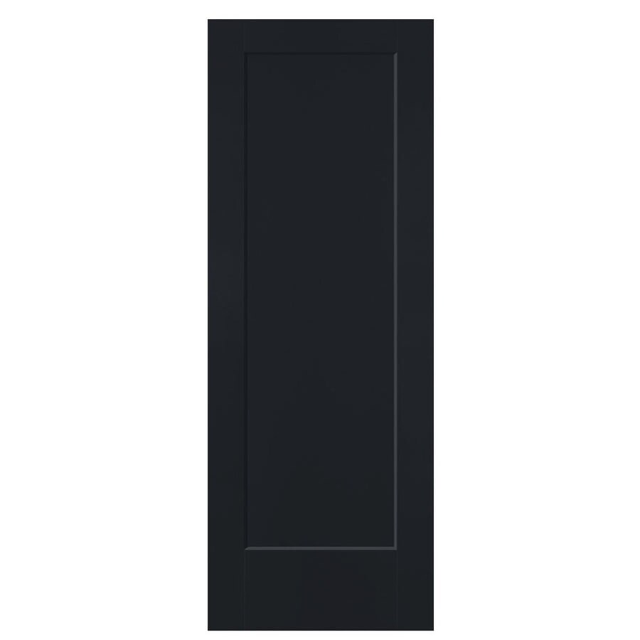 Shop masonite lincoln park midnight hollow core 1 panel for 1 panel door
