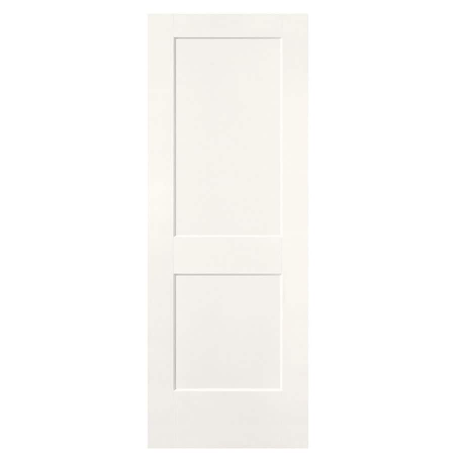 Shop masonite logan snow storm hollow core 2 panel square for Www masonite com interior doors