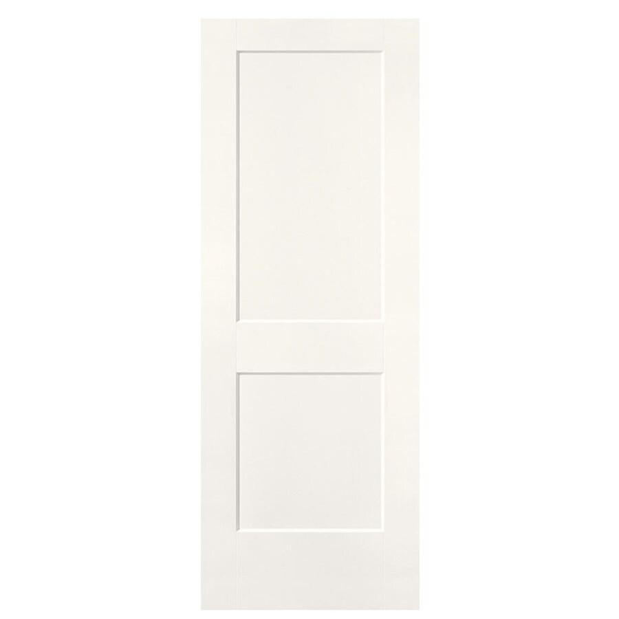 Shop Masonite Logan Snow Storm Hollow Core 2 Panel Square Slab Interior Door Common 32 In X 80
