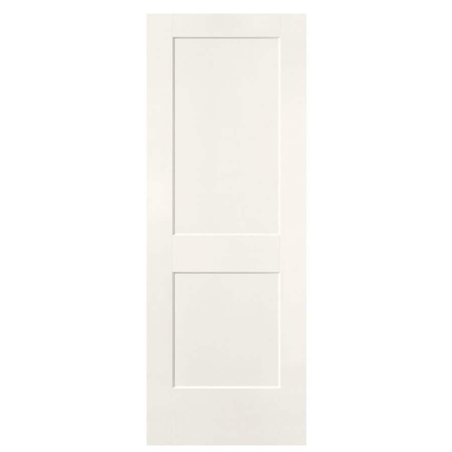 Masonite Logan White Hollow Core Molded Composite Slab Interior Door (Common: 30-in x 80-in; Actual: 31.5-in x 81.5-in)