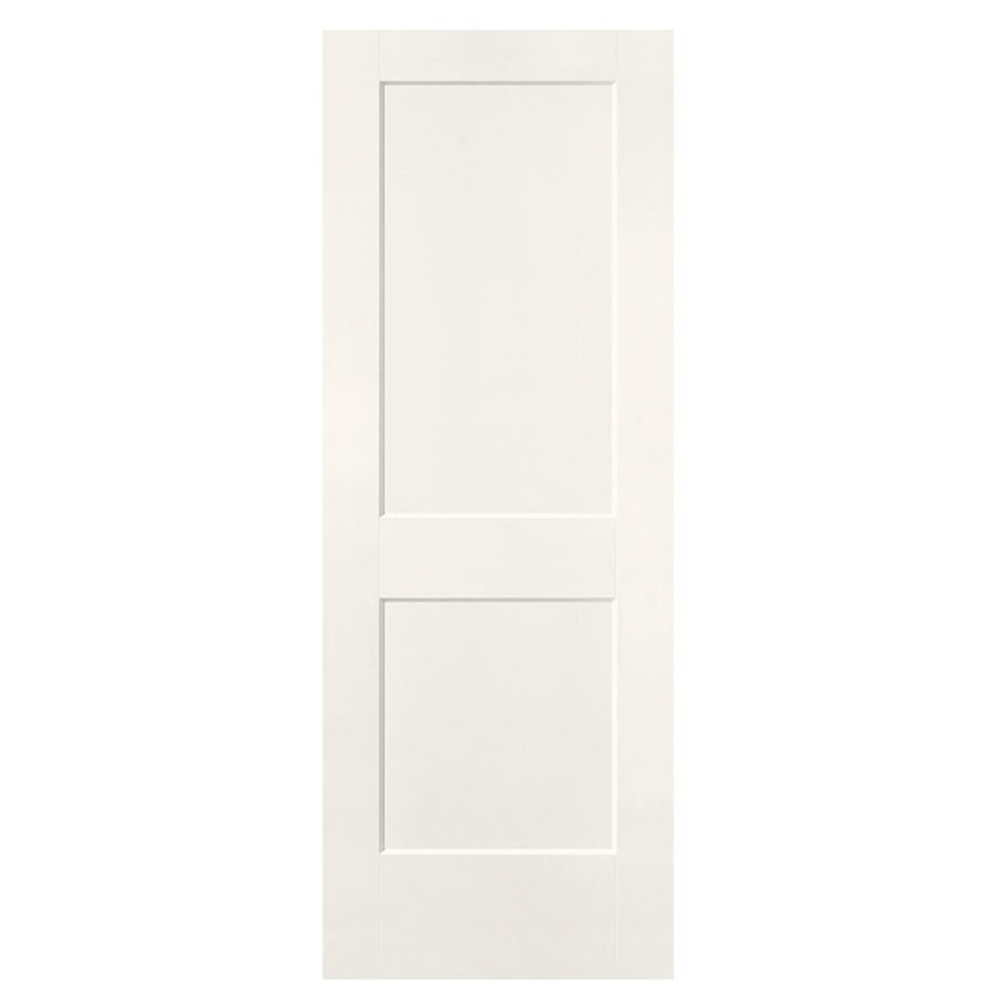 Masonite Logan White Hollow Core 2-Panel Square Slab Interior Door (Common: 36-in x 80-in; Actual: 37.5-in x 81.5-in)
