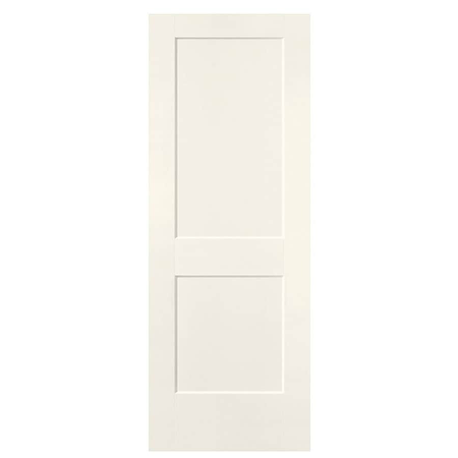 Masonite Logan Moonglow Hollow Core 2-Panel Square Slab Interior Door (Common: 30-in x 80-in; Actual: 31.5-in x 81.5-in)