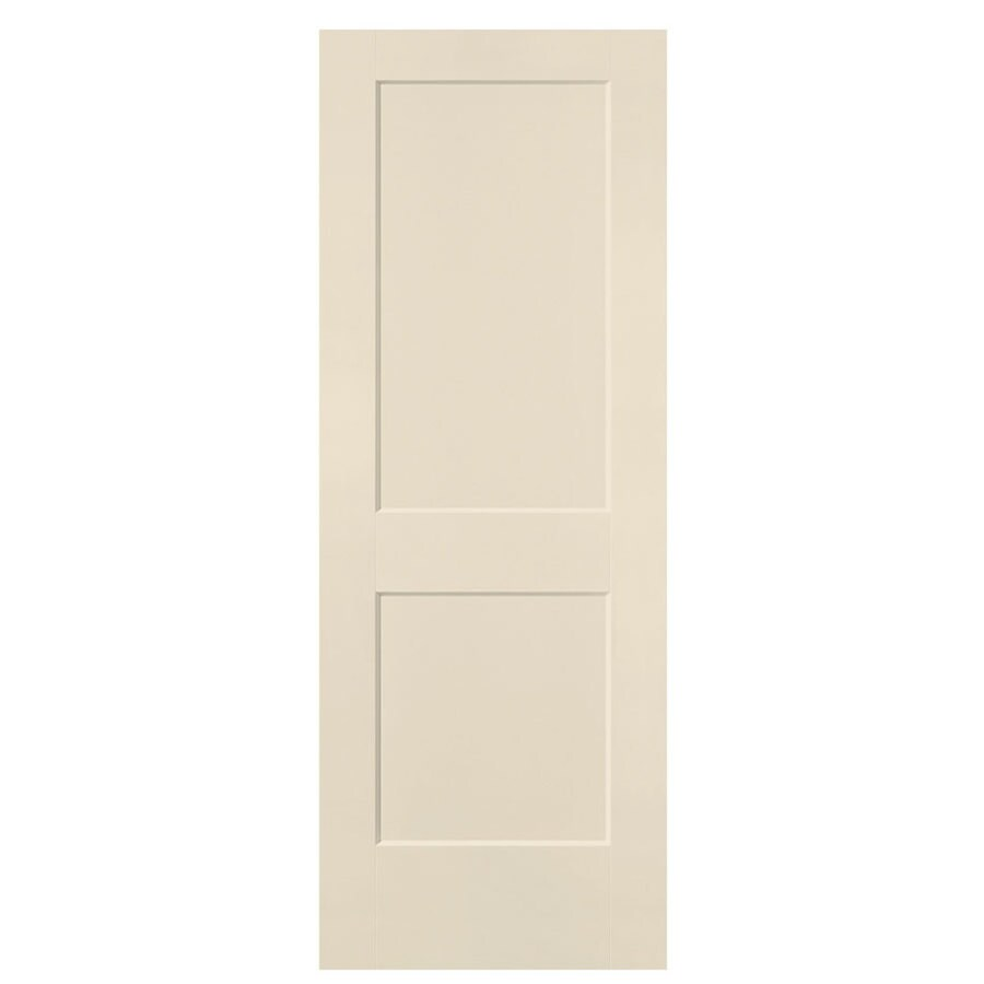 Masonite Logan Cream-n-sugar 2-panel Square Slab Interior Door (Common: 30-in X 80-in; Actual: 31.5-in x 81.5-in)
