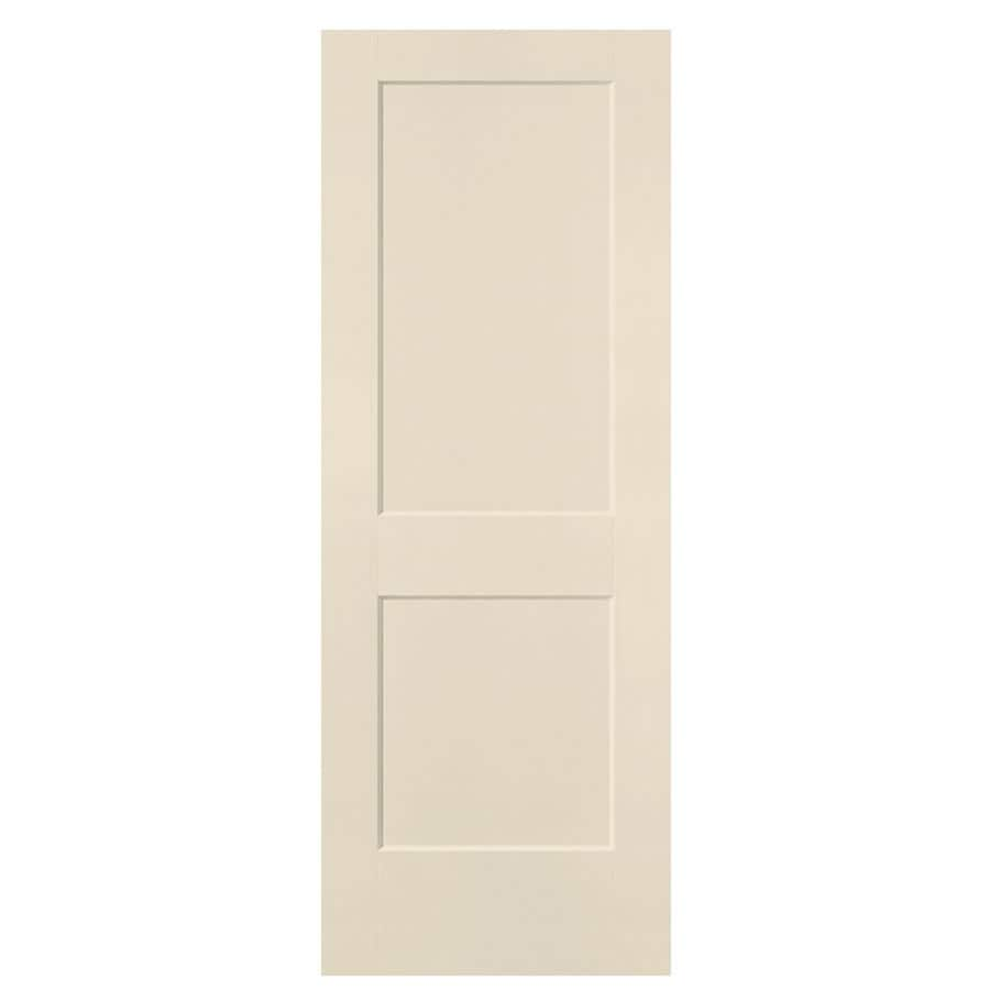 Masonite Heritage Cream-N-Sugar Hollow Core Molded Composite Slab Interior Door (Common: 32-in X 80-in; Actual: 32-in x 80-in)