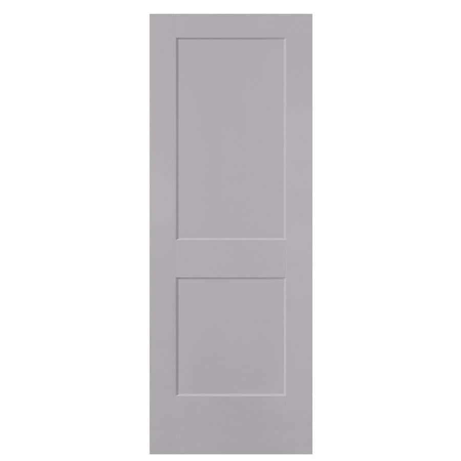 Masonite Logan Driftwood Hollow Core 2-Panel Square Slab Interior Door (Common: 30-in x 80-in; Actual: 31.5-in x 81.5-in)