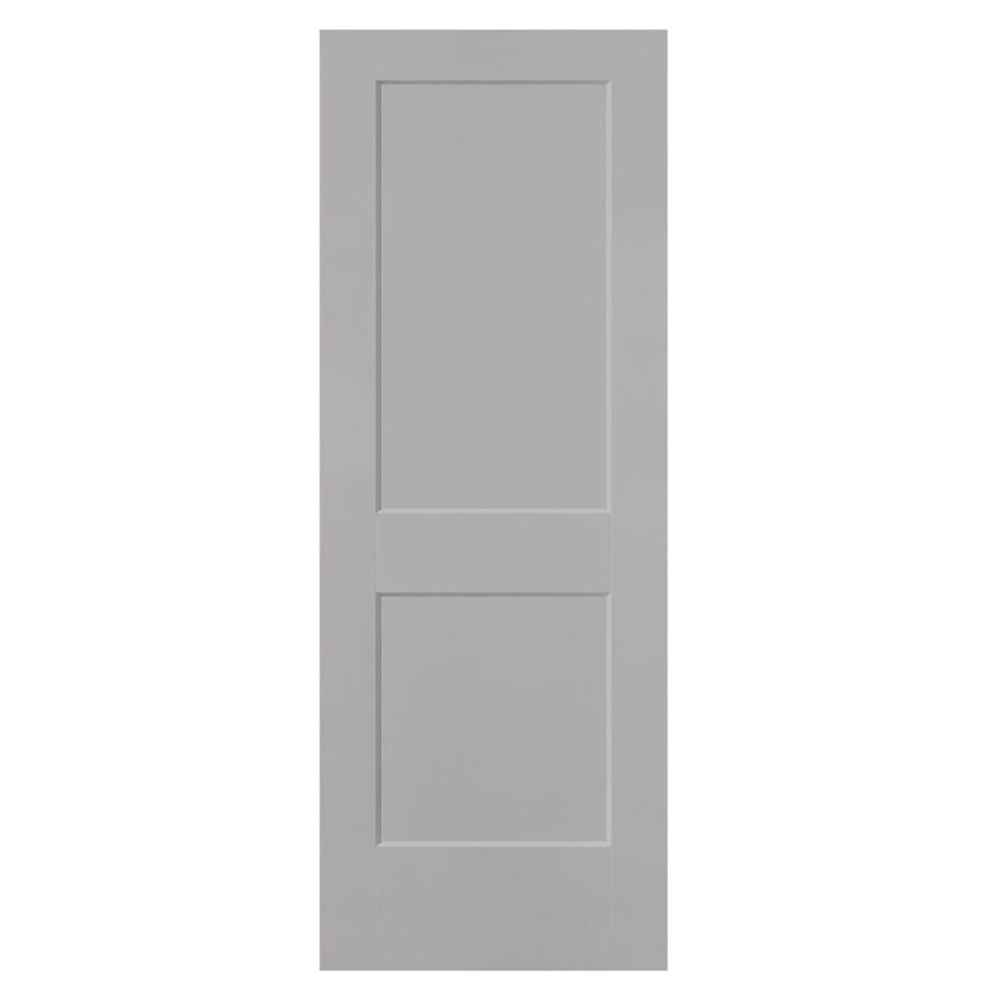Masonite Logan Driftwood Hollow Core 2-Panel Square Slab Interior Door (Common: 32-in x 80-in; Actual: 33.5-in x 81.5-in)