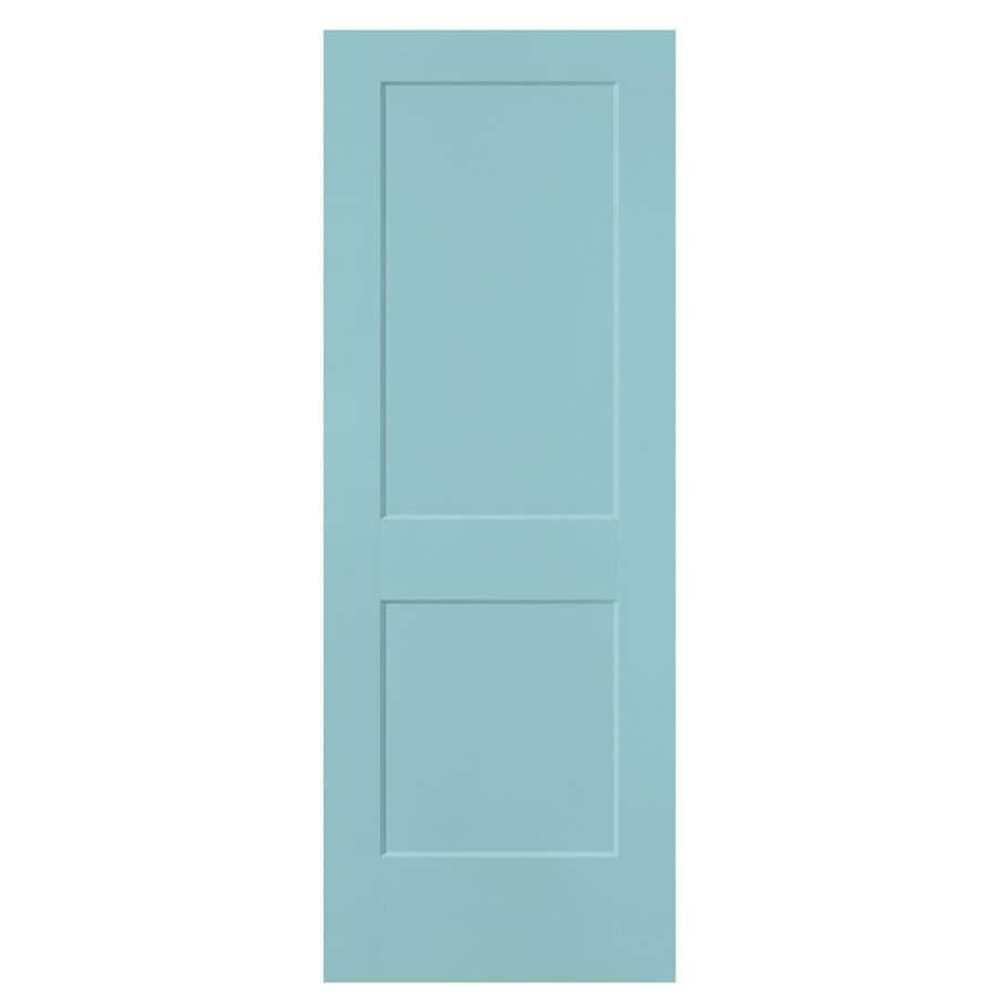 Masonite Logan Sea Mist 2-panel Square Slab Interior Door (Common: 28-in x 80-in; Actual: 29.5-in x 81.5-in)