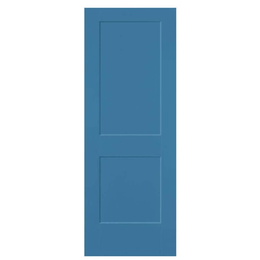 Masonite Logan Blue Heron 2-panel Square Slab Interior Door (Common: 30-in X 80-in; Actual: 31.5-in x 81.5-in)
