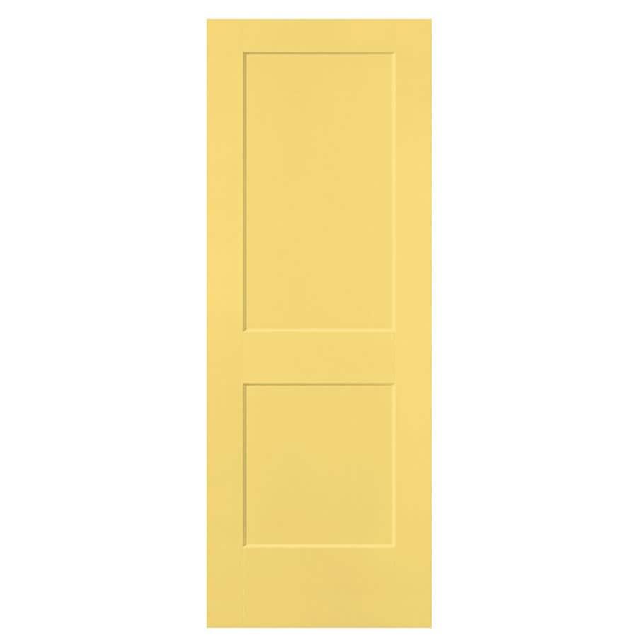 Masonite Logan Marigold Hollow Core 2-Panel Square Slab Interior Door (Common: 24-in x 80-in; Actual: 25.5-in x 81.5-in)
