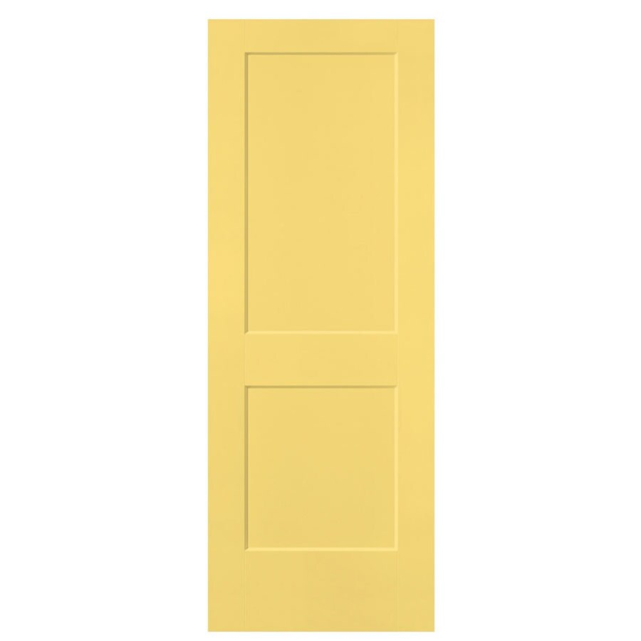 Masonite Herritage Marigold Hollow Core 2-Panel Square Slab Interior Door (Common: 30-in x 80-in; Actual: 31.5-in x 81.5-in)