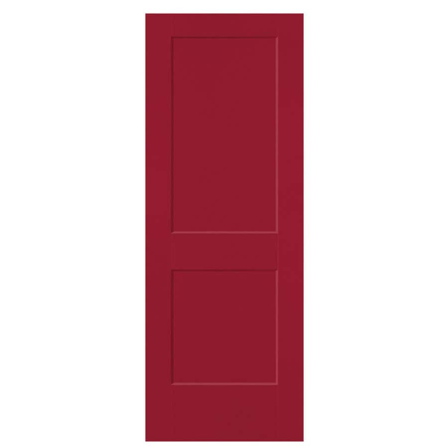 Masonite Heritage Barn Red Hollow Core Molded Composite Slab Interior Door (Common: 24-in X 80-in; Actual: 24-in x 80-in)