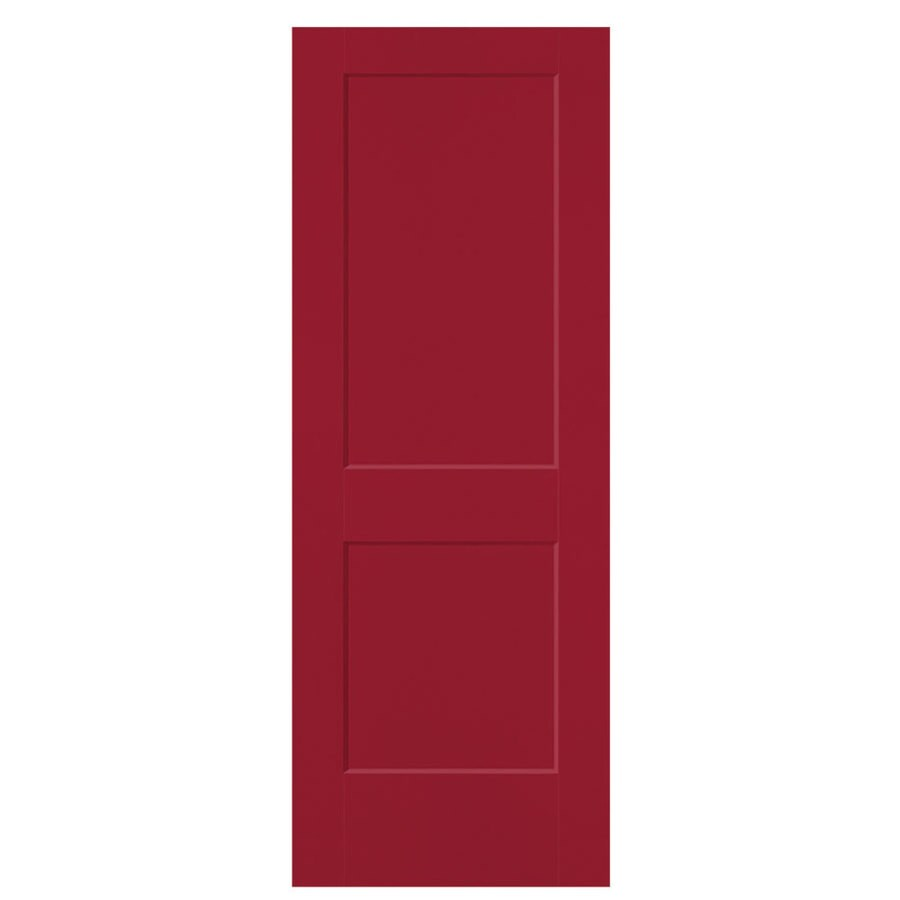 Masonite Logan Barn Red Hollow Core 2-Panel Square Slab Interior Door (Common: 28-in x 80-in; Actual: 29.5-in x 81.5-in)