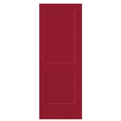 Masonite Slab Doors Barn Red 2 Panel Square Hollow Core
