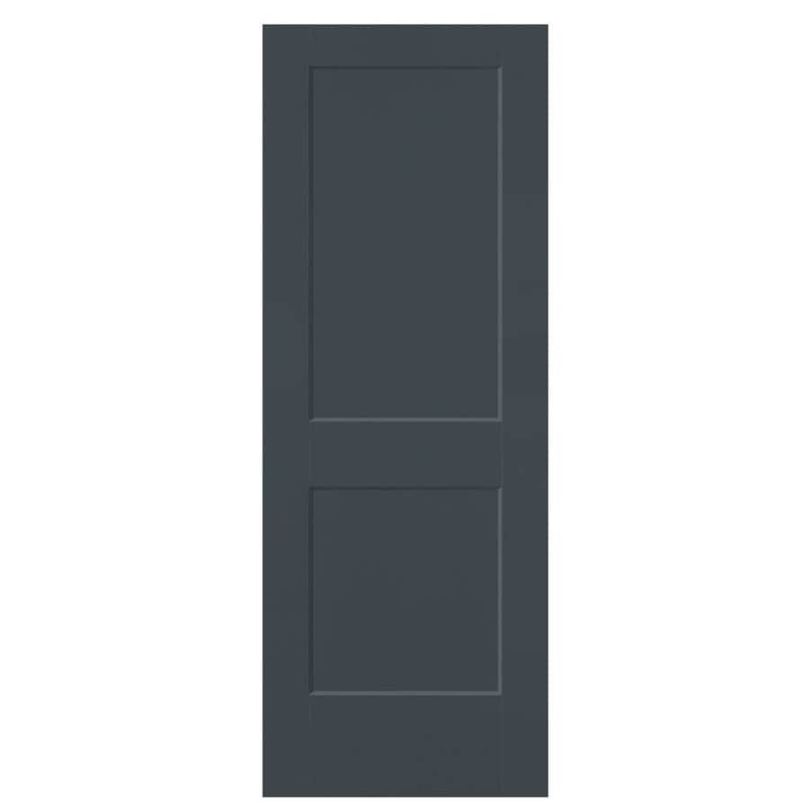 Masonite Logan Slate 2-panel Square Slab Interior Door (Common: 30-in X 80-in; Actual: 31.5-in x 81.5-in)