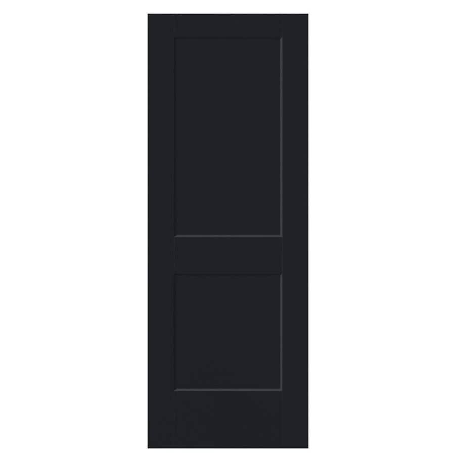 Masonite Logan Midnight 2-panel Square Slab Interior Door (Common: 30-in x 80-in; Actual: 31.5-in x 81.5-in)