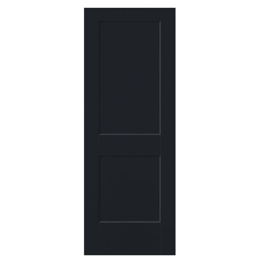 Masonite Logan Midnight 2-panel Square Slab Interior Door (Common: 36-in x 80-in; Actual: 37.5-in x 81.5-in)