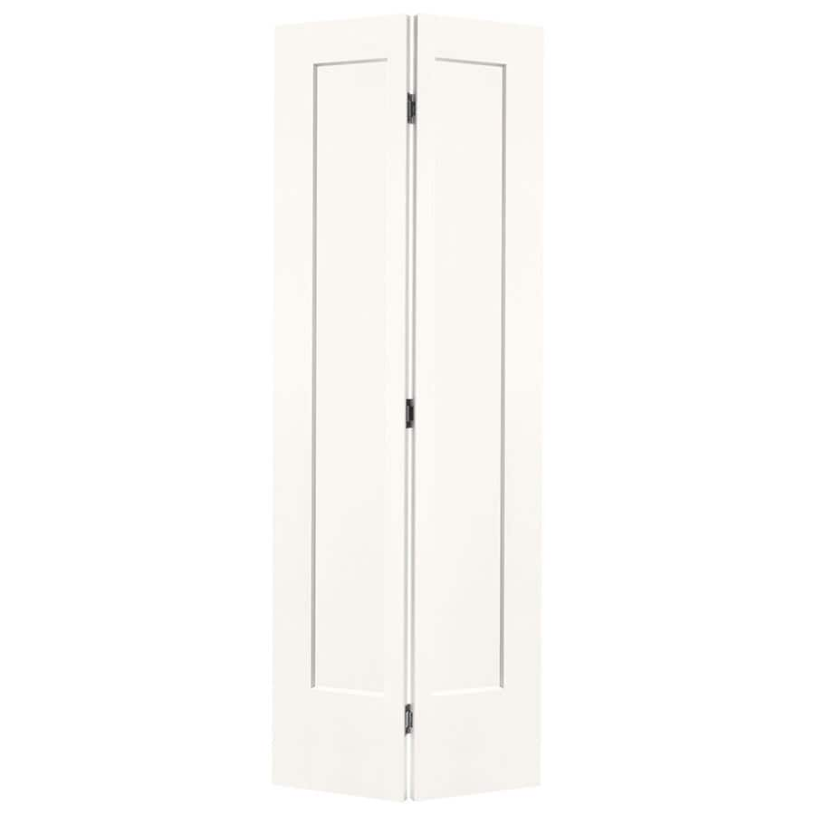 Masonite Lincoln Park Snow Storm Hollow Core Molded Composite Bi-Fold Closet Interior Door with Hardware (Common: 24-in x 80-in; Actual: 25.5-in x 81.5-in)