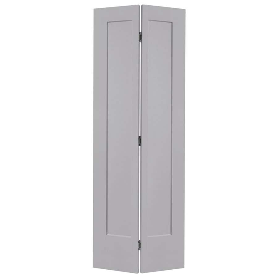 Shop masonite lincoln park driftwood 1 panel bi fold for Www masonite com interior doors