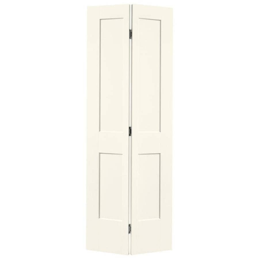 Masonite Heritage Moonglow Hollow Core Molded Composite Bi-Fold Closet Interior Door with Hardware (Common: 30-in X 80-in; Actual: 29.5-in x 79-in)