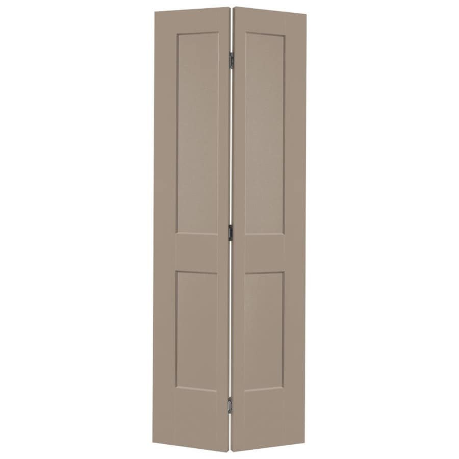 Masonite Logan Sand Piper 2-panel Square Bi-fold Closet Interior Door (Common: 30-in x 80-in; Actual: 31.5-in x 81.5-in)
