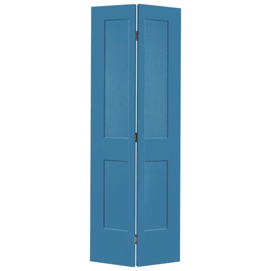 Masonite Heritage Blue Heron Hollow Core Molded Composite Bi-Fold Closet Interior Door with Hardware (Common: 24-in X 80-in; Actual: 23.5-in x 79-in)
