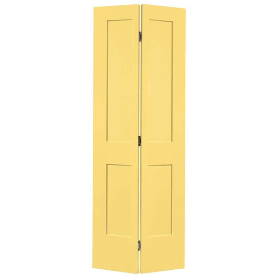 Masonite Heritage Marigold Hollow Core Molded Composite Bi-Fold Closet Interior Door with Hardware (Common: 24-in X 80-in; Actual: 23.5-in x 79-in)