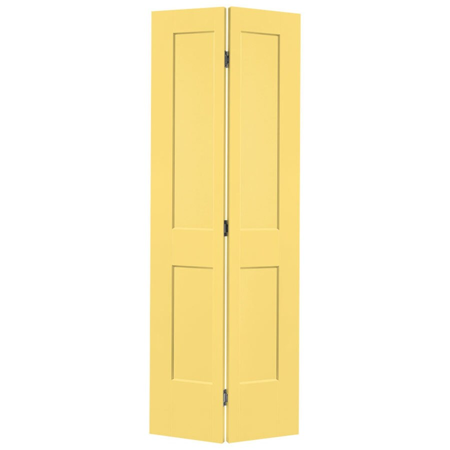 Masonite Heritage Marigold Hollow Core Molded Composite Bi-Fold Closet Interior Door with Hardware (Common: 30-in X 80-in; Actual: 29.5-in x 79-in)