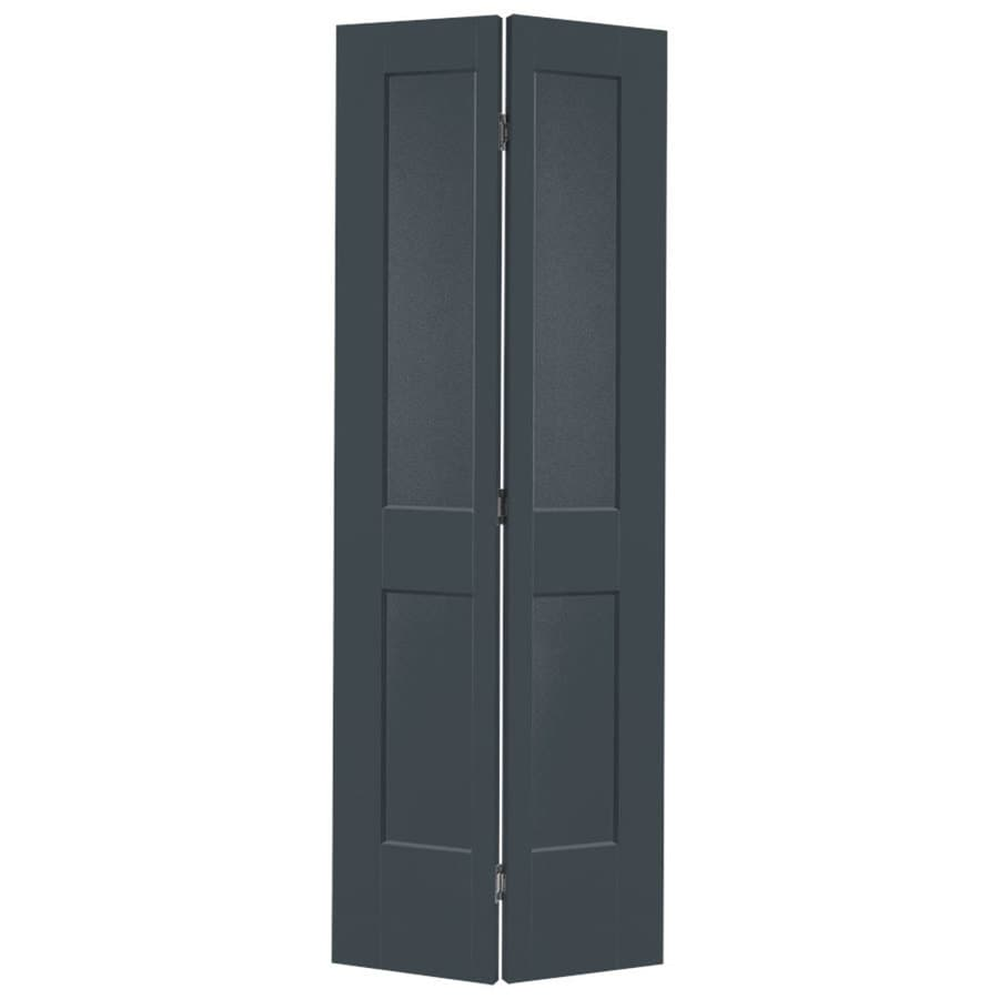 Masonite Logan Slate Hollow Core Molded Composite Bi-Fold Closet Interior Door with Hardware (Common: 30-in x 80-in; Actual: 31.5-in x 81.5-in)