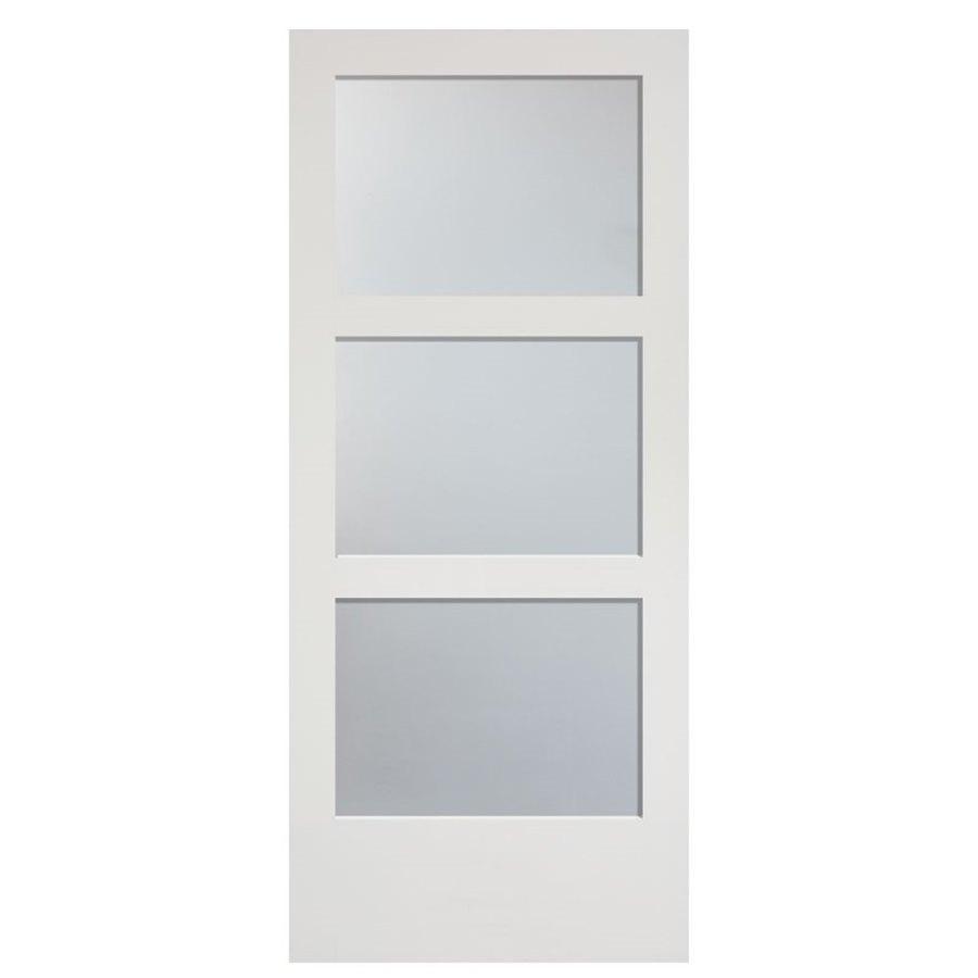 Masonite 36 In X 84 In Primed 3 Lite Equal Solid Wood: Masonite Primed MDF Barn Door (Common: 36-in X 84-in