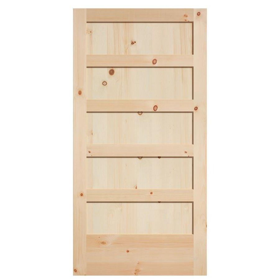 Lowe S Knotty Pine Cabinets: Masonite Unfinished 5-Panel Square Wood Knotty Pine Barn