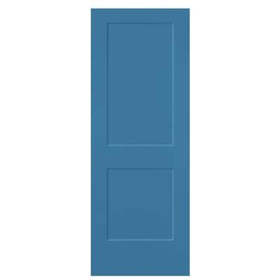 Masonite Slab Doors Blue Heron 2 Panel Square Solid Core