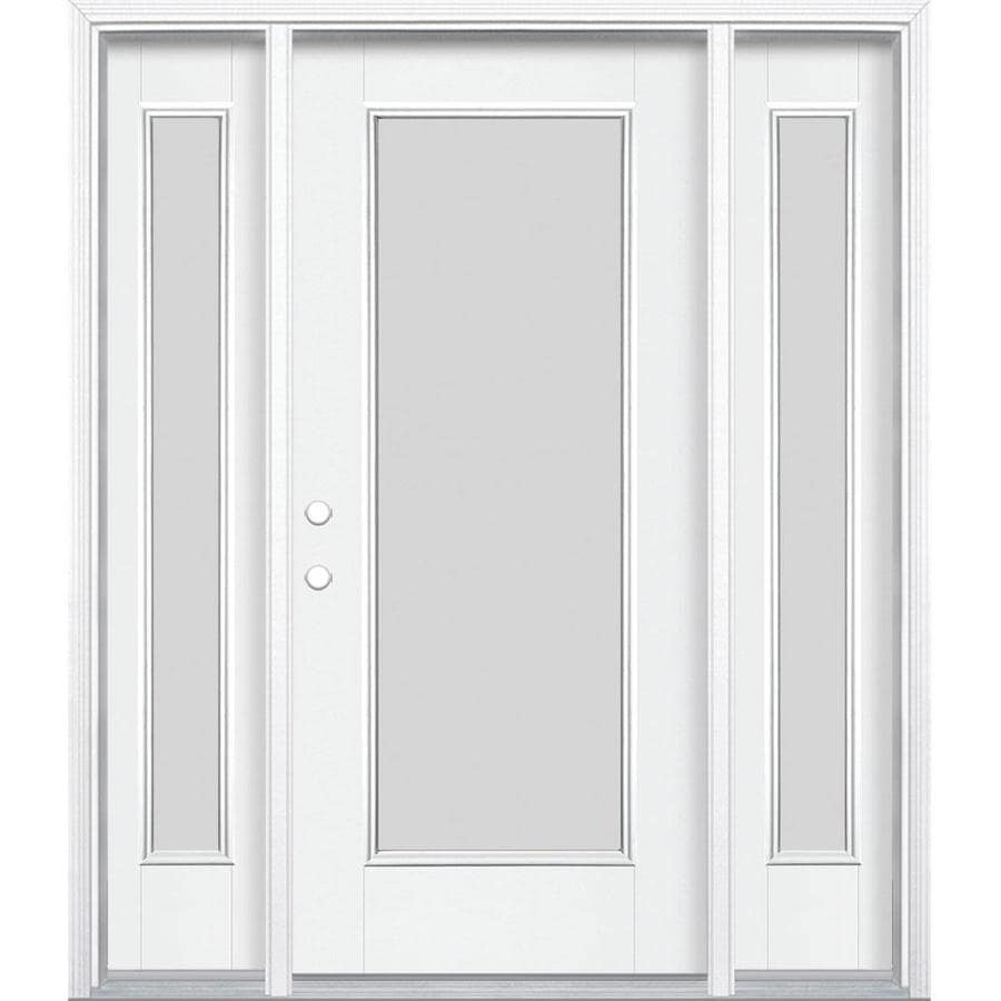Masonite Blanca Full Lite Frosted Glass Right Hand Inswing