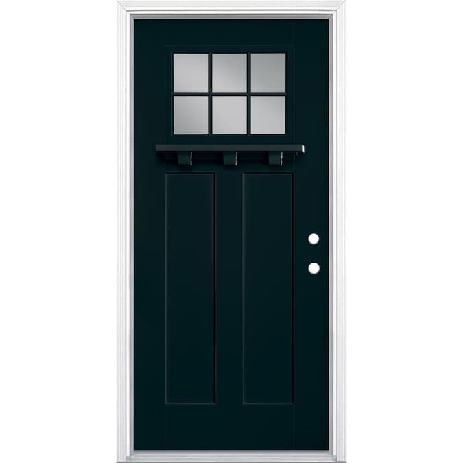 Masonite 36 In X 80 In Fiberglass Craftsman Left Hand Inswing Eclipse Painted Prehung Single Front Door Brickmould Included In The Front Doors Department At Lowes Com 36 x 80 interior doors. masonite 36 in x 80 in fiberglass craftsman left hand inswing eclipse painted prehung single front door brickmould included
