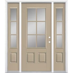Masonite 64 In X 80 In Fiberglass 3 4 Lite Left Hand Inswing Peppercorn Painted Prehung Single Front Door Brickmould Included In The Front Doors Department At Lowes Com They want to provide not just a door, but a total experience, giving you a complete line of products, services and support tools designed around your success. masonite 64 in x 80 in fiberglass 3 4