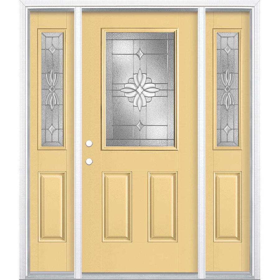 Shop Masonite Laurel Half Lite Decorative Glass Right-Hand Inswing ...