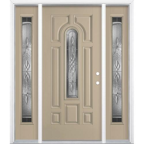 Masonite Hampton Center Arch Lite Decorative Glass Left