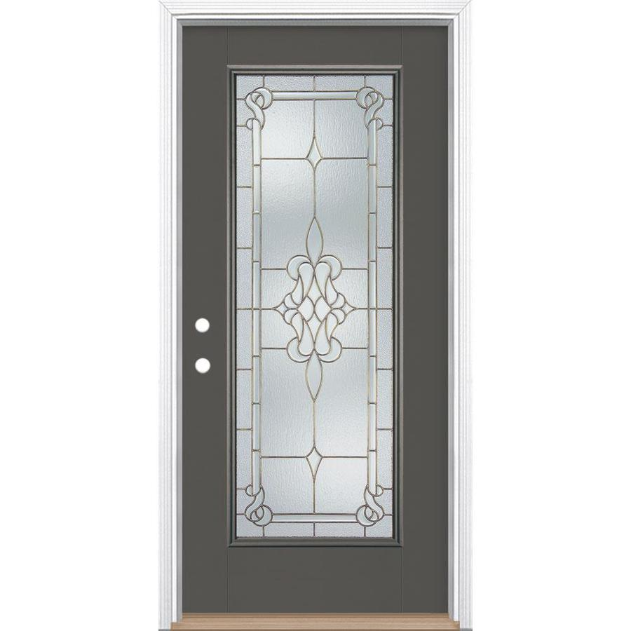Shop Masonite Stately Full Lite Decorative Glass Right Hand Inswing