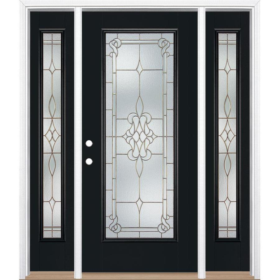 Shop Masonite Stately Full Lite Decorative Glass Right Hand Inswing