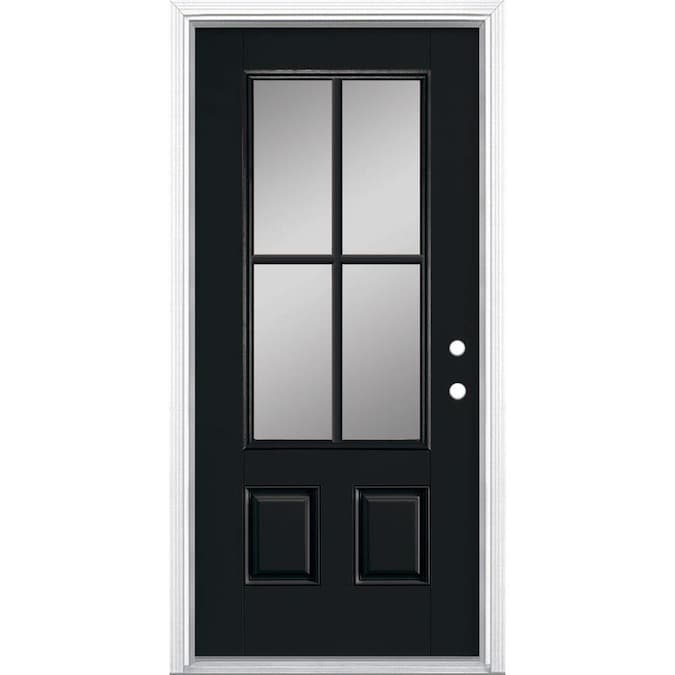 Masonite 36 In X 80 In Fiberglass 3 4 Lite Left Hand Inswing Peppercorn Painted Prehung Single Front Door Brickmould Included In The Front Doors Department At Lowes Com **all tools and hardware are included in the handy tool kit.** 36 door (75415) specs. masonite 36 in x 80 in fiberglass 3 4 lite left hand inswing peppercorn painted prehung single front door brickmould included