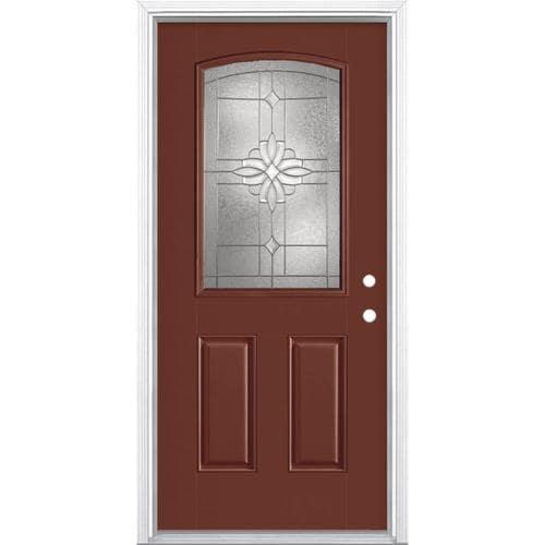 Excellent Masonite Laurel Half Lite Decorative Glass Left Hand Door Handles Collection Olytizonderlifede