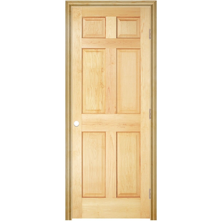 Shop Reliabilt 32 W 6 Panel Wood Left Hand Interior Single