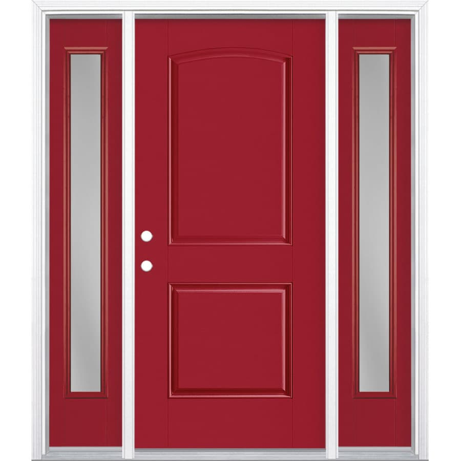 Masonite Clear Glass Left Hand Inswing Roma Red Painted