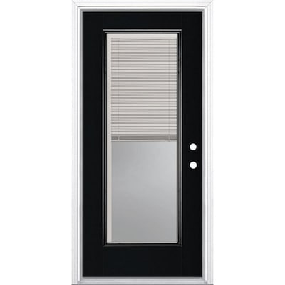 Fiberglass Black Front Doors At Lowes Com Knotty alder 12 lite with lowe insulated glass. fiberglass black front doors at lowes com