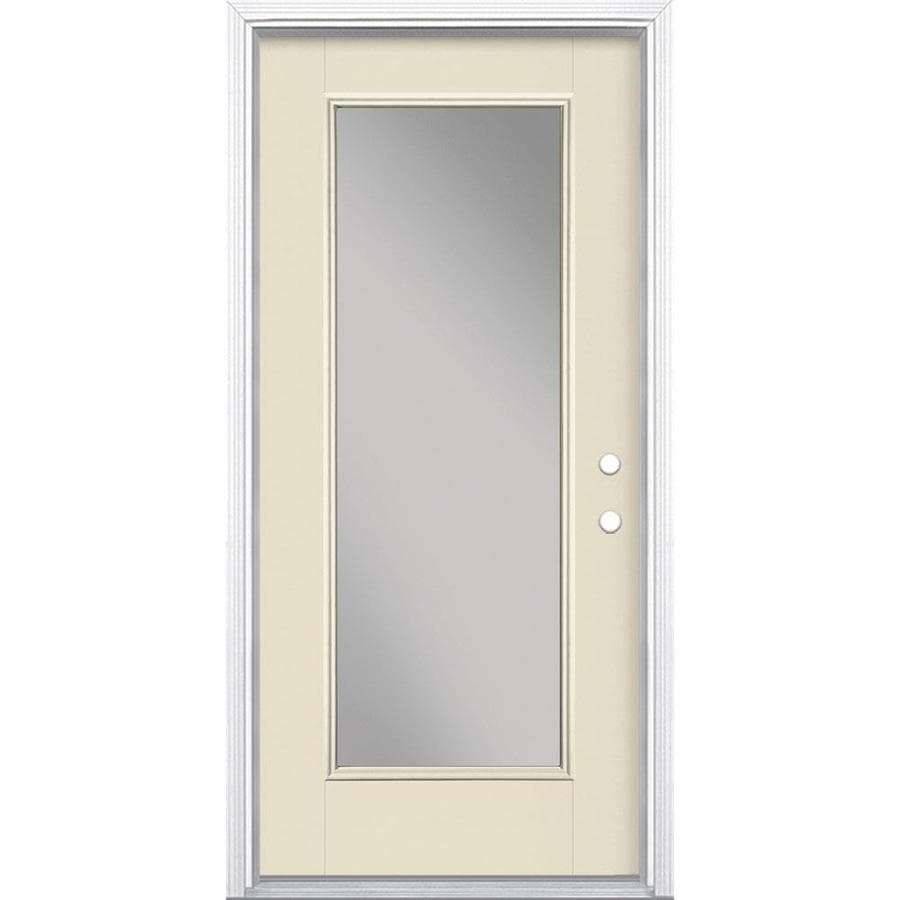 Masonite Full Lite Clear Glass Left Hand Inswing Bisque
