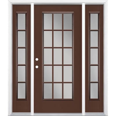 Single Door With Sidelights And Transom Front Doors At Lowes Com
