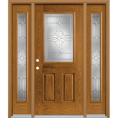 Oak Front Doors At Lowes Com Full light sidelights allow in the most light, while craftsman light sidelights have smaller panes of glass for more privacy. oak front doors at lowes com