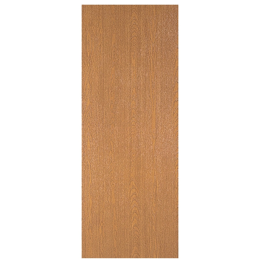 Masonite Flush Solid Wood Core Universal Reversible Wood Lauan Unfinished Slab Entry Door (Common: 30-in x 80-in; Actual: 80-in x 30-in)