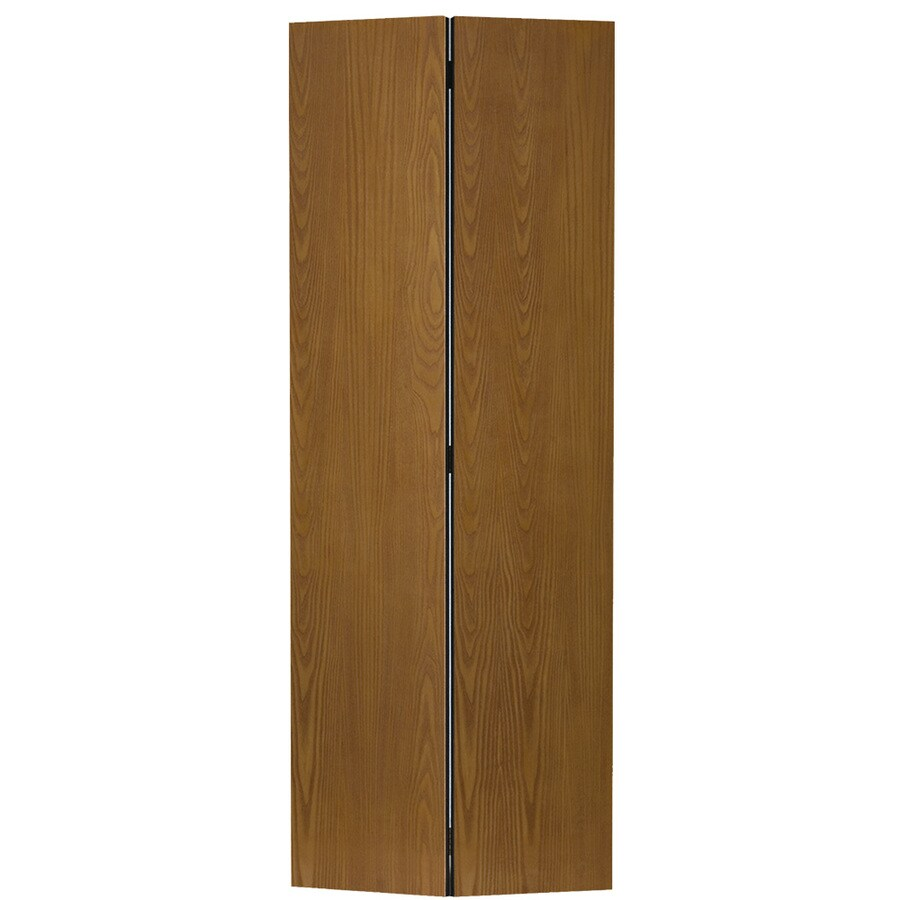 Masonite Bifold And Closet Doors Oak Flush Wood Door Hardware Included Common 24 In X 80 Actual 23 5 79