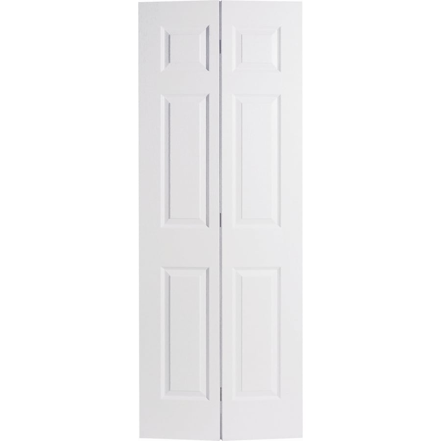 Masonite Hollow Core 6-Panel Bi-Fold Closet Interior Door (Common: 18-in x 80-in; Actual: 17.5-in x 79-in)
