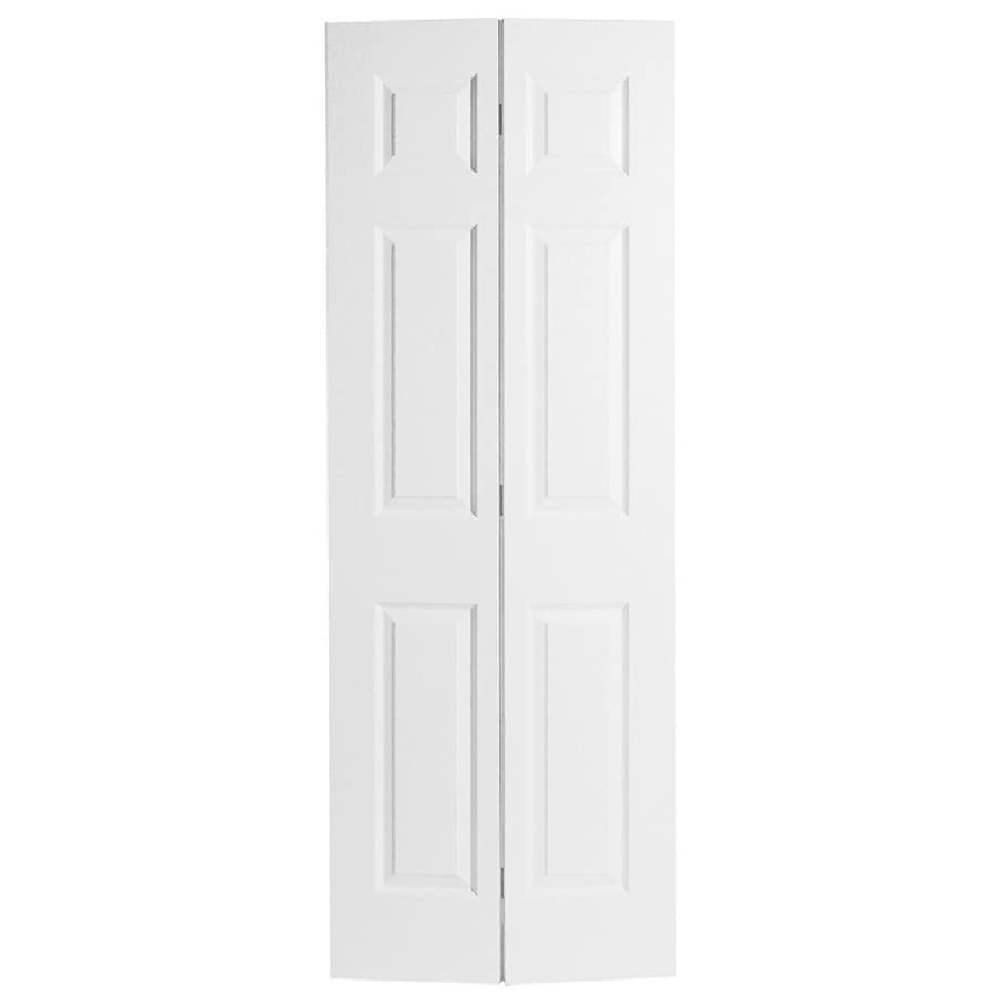 Shop Masonite Classics 6 Panel Bi Fold Closet Interior Door Common